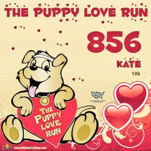 My Puppy Love Run Race Bib