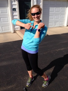 I set a new personal best for a 5k on my Garmin - yes!