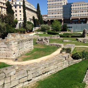 The remains of Roman foundations found in the heart of Marseille. Funnily enough they were found by a construction crew...can you imagine how cool that was?!