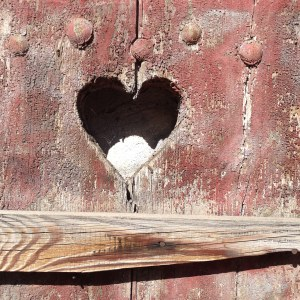 How sweet is this heart cutout? I pass this every day during my walk to work, and I just love it.