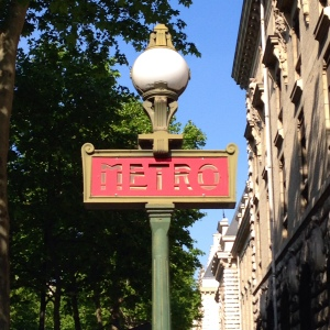 I just love the Metro signs in Paris!
