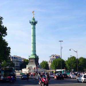 Place de la Bastille - The July Column is a monument erected to commemorate the storming of the Bastille prison during the French Revolution.  How cool is it to run in such a historic location!