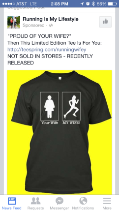 I saw this on my Facebook feed and immediately texted it to Hubs. I kind of want to get it for him for the marathon...