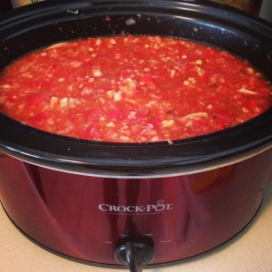 Red Lentil Chili - I used the Forks Over Knives recipe...yum!!