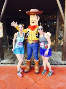 Once in Magic Kingdom we saw Woody and made a beeline for him. I think we were some of his most excited runners all day!