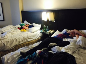 My personal favorite photo from race weekend. T and I made it home from the race and took the chance to hydrate, stretch and shower. This is what we came home to - the boys were passed out. Spectating is hard work ;) I kid, we love you guys!! <3