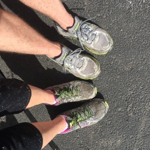 Our first long run was a very muddy experience - but so much fun!