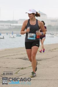 "I'm pretty sure I'm about to shout ""HOLE!"" here ;) While running to the finish on the lake front was fun, the splintered cement made for interesting foot navigation."